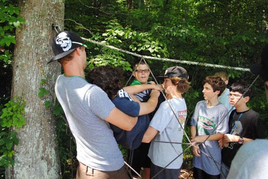 Low Ropes Camp Carolina Brevard Nc
